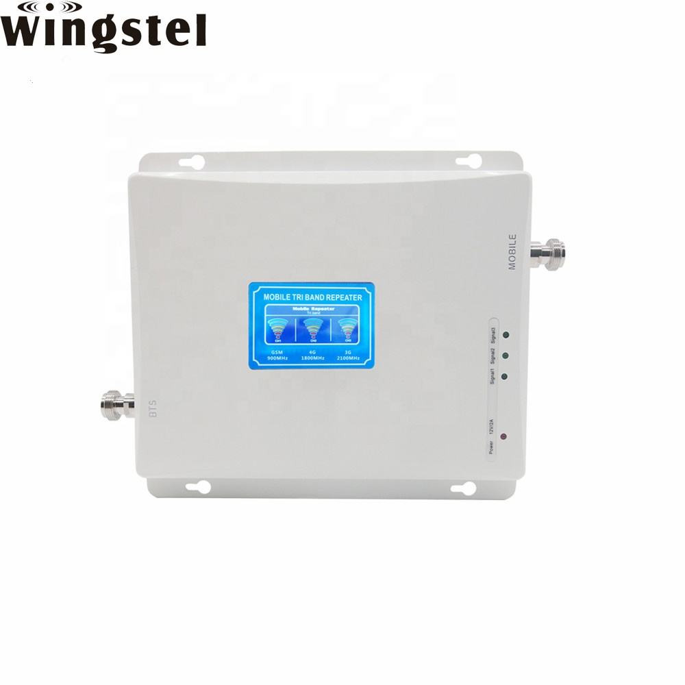 Tri Band GSM/DCS/WCDMA Mobile Signal Booster 2G 3G 4G LTE Cell Phone Signal Repeater
