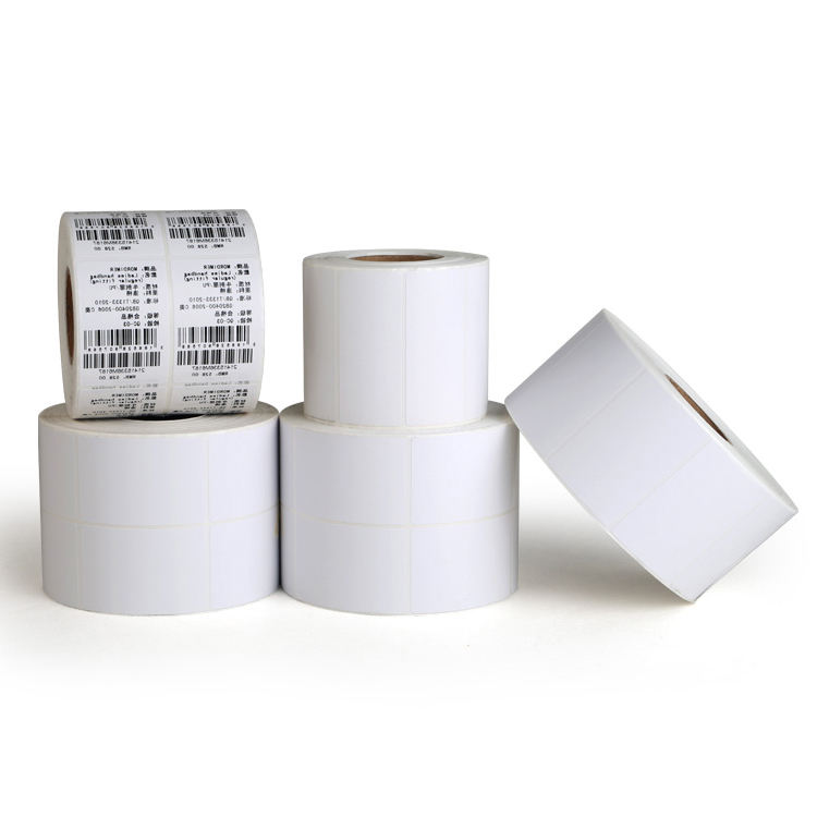Blank Custom Printing Thermal Transfer Coated Art Barcode Adhesive Sticker Label Paper Roll