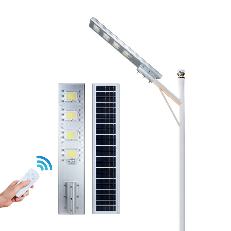 ALLTOP Remote control ip65 waterproof aluminum outdoor road 60w 120w 180w 240w all in one led solar street light
