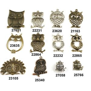 Cheap Wholesale Jewelry Accessories Alloy Metal Owl Pendants