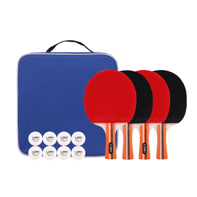 HOT Sale Customized high quality 4 pack professional premium table tennis racket 8 balls ping pong paddle set