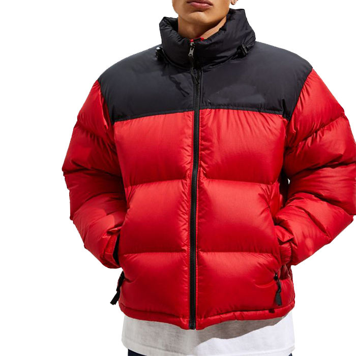 hot selling mens red winter fashion thermal nylon puffer jackets