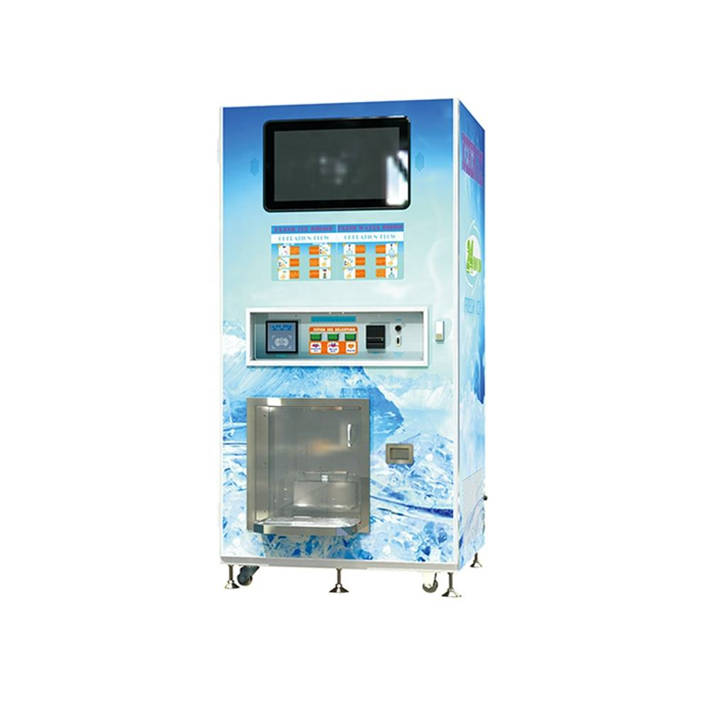 Cube ice and purified water vending machine