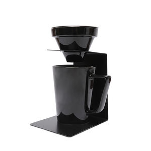 350ml ceramic mug white or black color coffee dripper set with double wall mesh filter