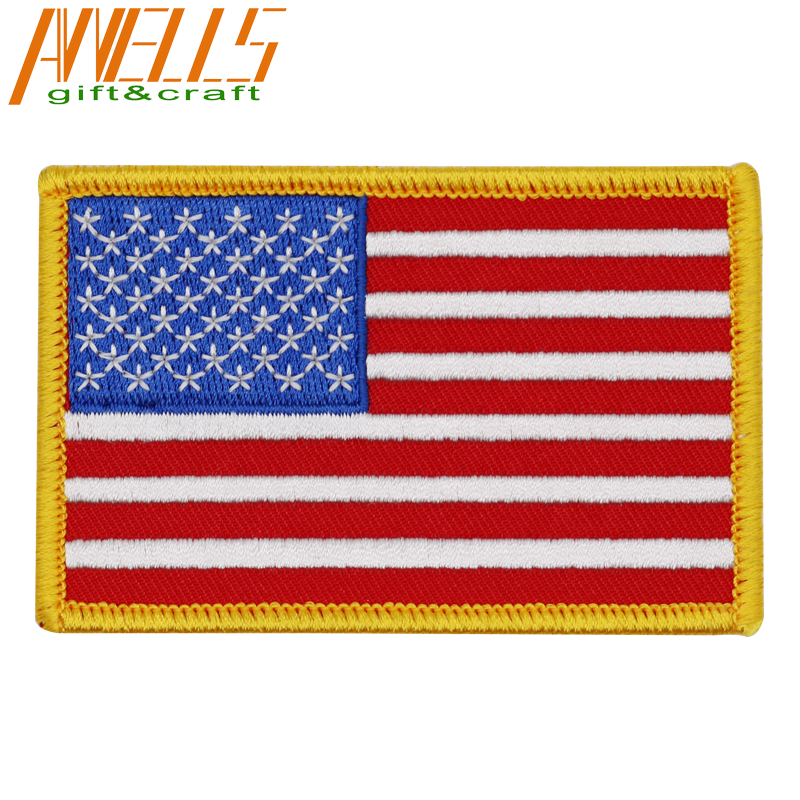Patch badge embroidered border printed flag usa canada country morale