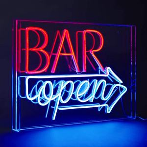 Customization Art Decor Neon Acrylic Box Sign LED Light Decor Acrylic Panel for Home Pub Hotel Recreational Game Room Decor