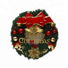 Wholesale 11 inch holiday decor artificial Plastic Christmas door Wreath