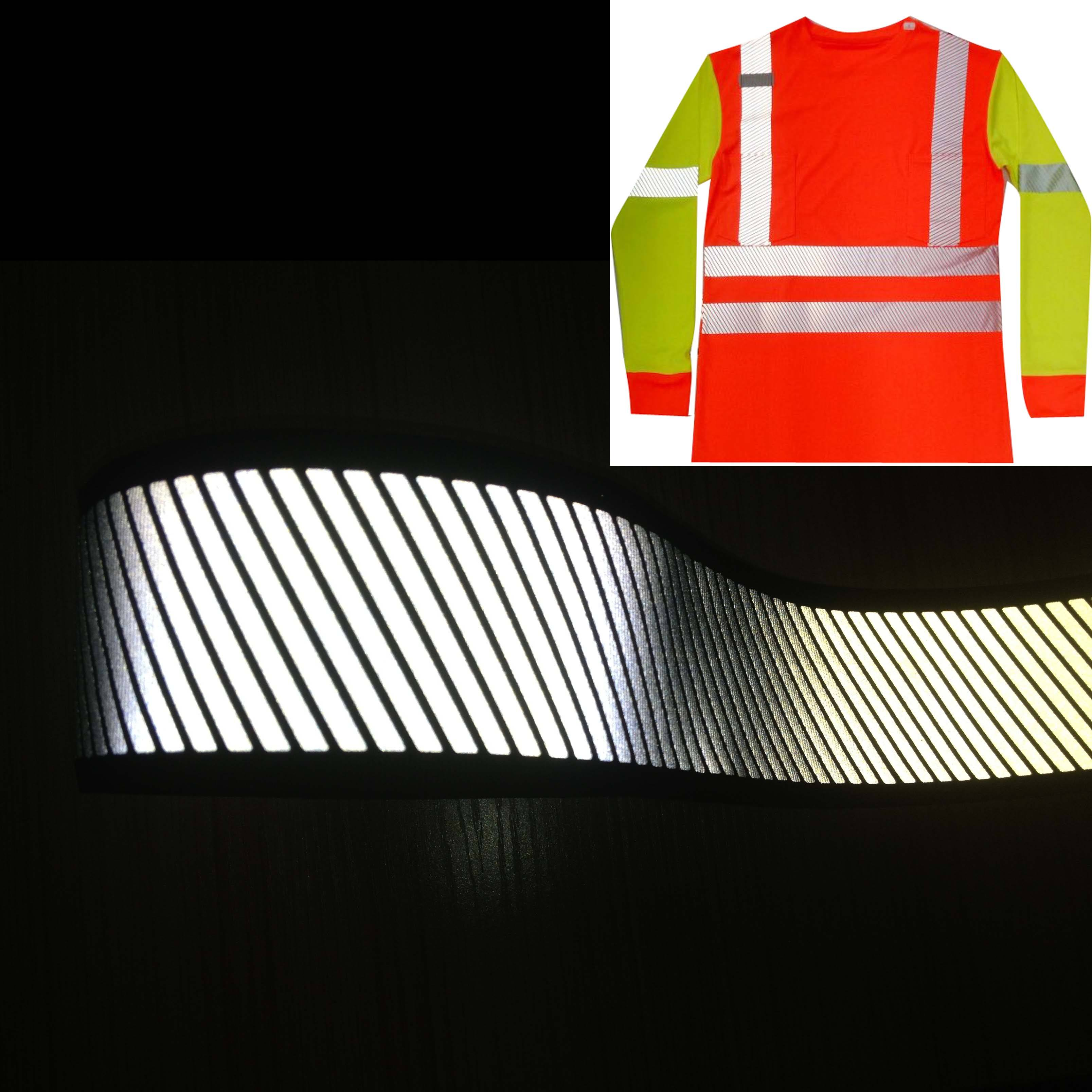 Iron on Segmented Reflective heat transfer tape/ Reflector tape for clothing