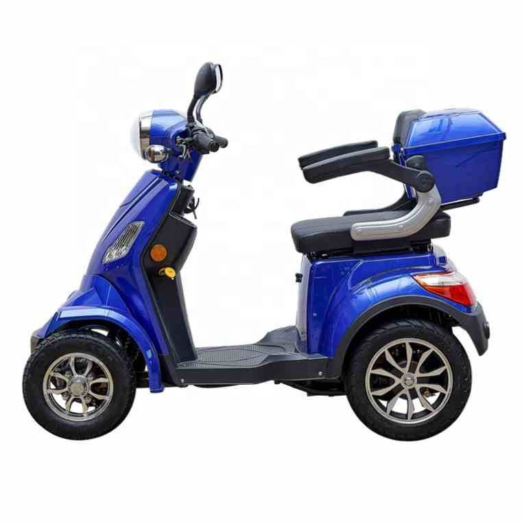 2018 TOP SELLER EEC 60v 1000w 4 wheel mobility scooter for elderly or handicapped with rear box
