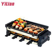 2020 hot new barbecue Argentine barbecue machine portable smokeless grill electric oven with stone baking tray