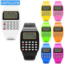 Children Calculator Watch  LED Clock Unisex Kid Silicone Multi-Purpose Date Time Electronic Wrist Watch