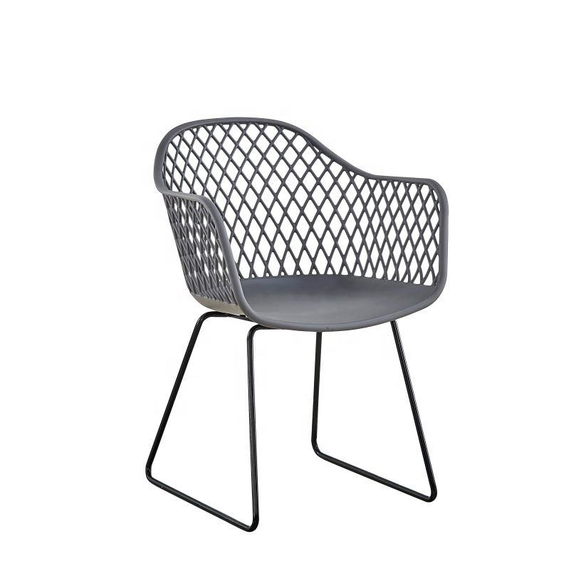 Wholesale China Factory Furniture New Design Big Size Comfortable PP Plastic Dining Chair Popular In Usa Australia