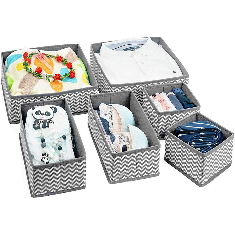 Wardrobe Closet Organizers Collapsible Drawer Organiser Divider Foldable Storage Bins for Socks, Bra, Underwear, Tie