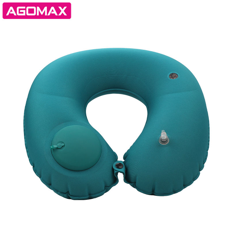 Buckwheat filled Inflatable U Shape Pillow Neck Head Rest Air Soft Foldable Cushion Pillow