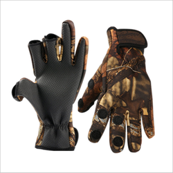 Popular design waterproof neoprene fishing gloves