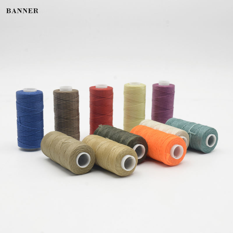 0.8mm 100% Polyester Braided Flat Waxed Thread for Shoes Using La linea de cera