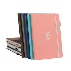 High quality Low Moq personalized printed hardcover a5 pu leather custom notebook with logo
