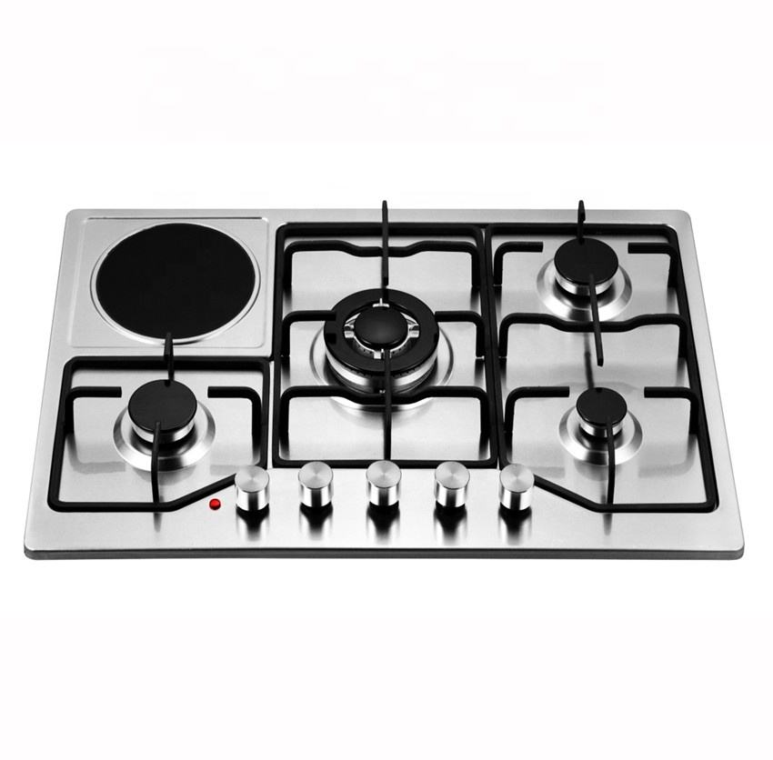 Enamel Pan Support 4 Burners and 1 Burner Hotplate Mixed Household Built in Gas Cooktop kitchen Appliance