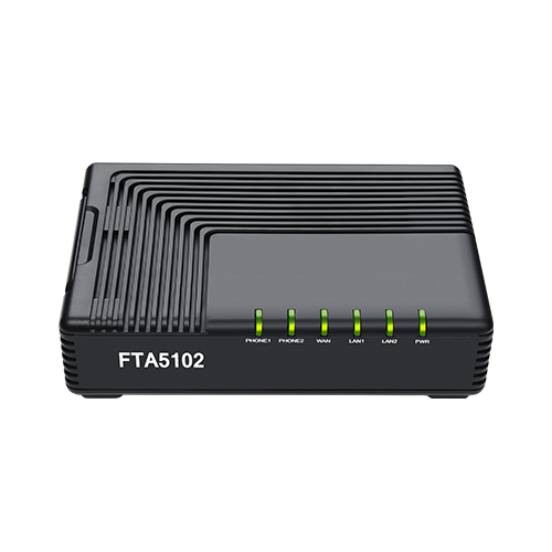 Flyingvoice FTA5102 10/100Mbps Ethernet T.38 And T.30 FAX TR069 SNMP 2 FXS Ports VoIP Phone Adapter
