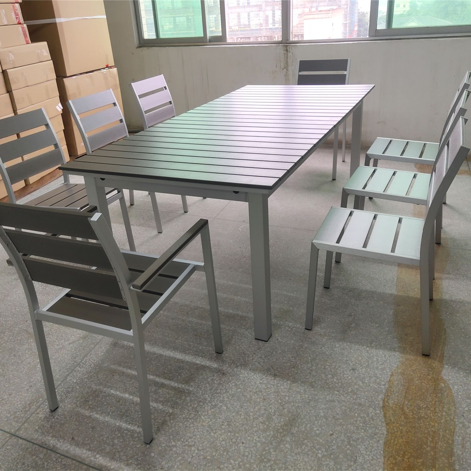 China import high end customized made rattan furniture outdoor folding table and chairs patio garden hotel project furniture