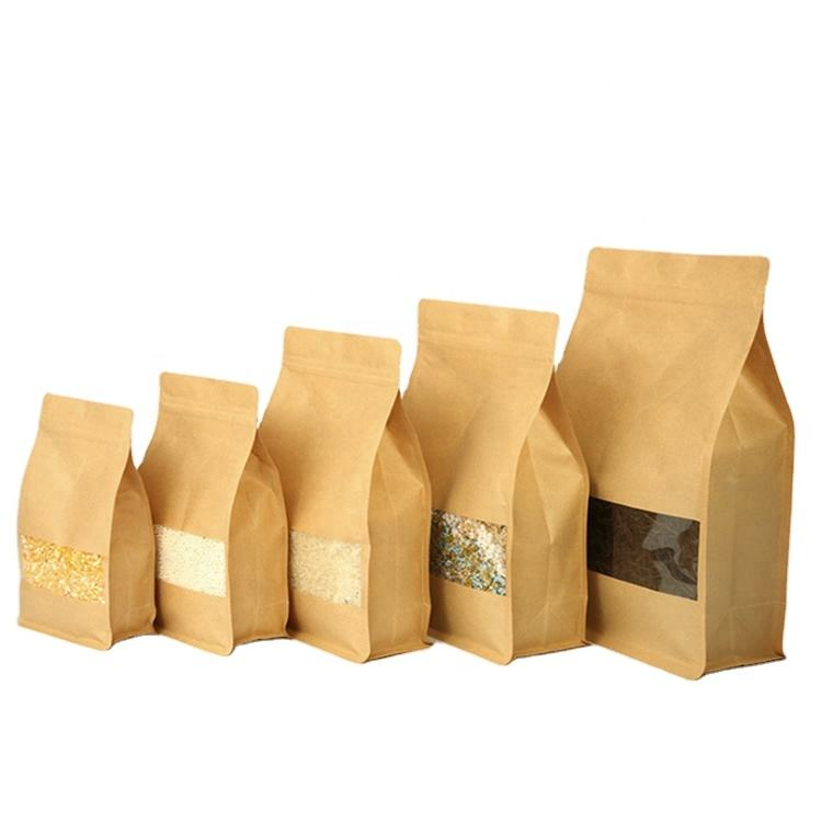 Free Samples Food Packaging Kraft Paper Package Coffee Bag with Zip Lock