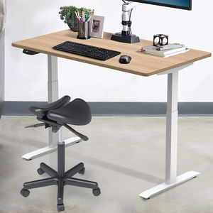 Hi5 modern lifting ergonomic wooden computer desk height adjustable office table for sit and stand table and desk