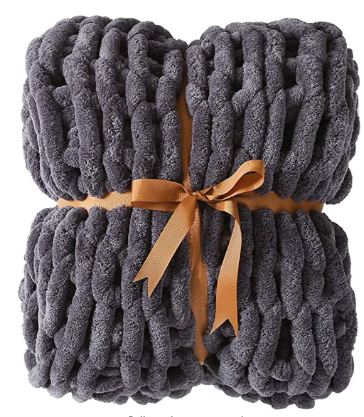 Free Small Sample OEM High Quality Manufacturer Super Cozy Throw Chunky Knit Blanket