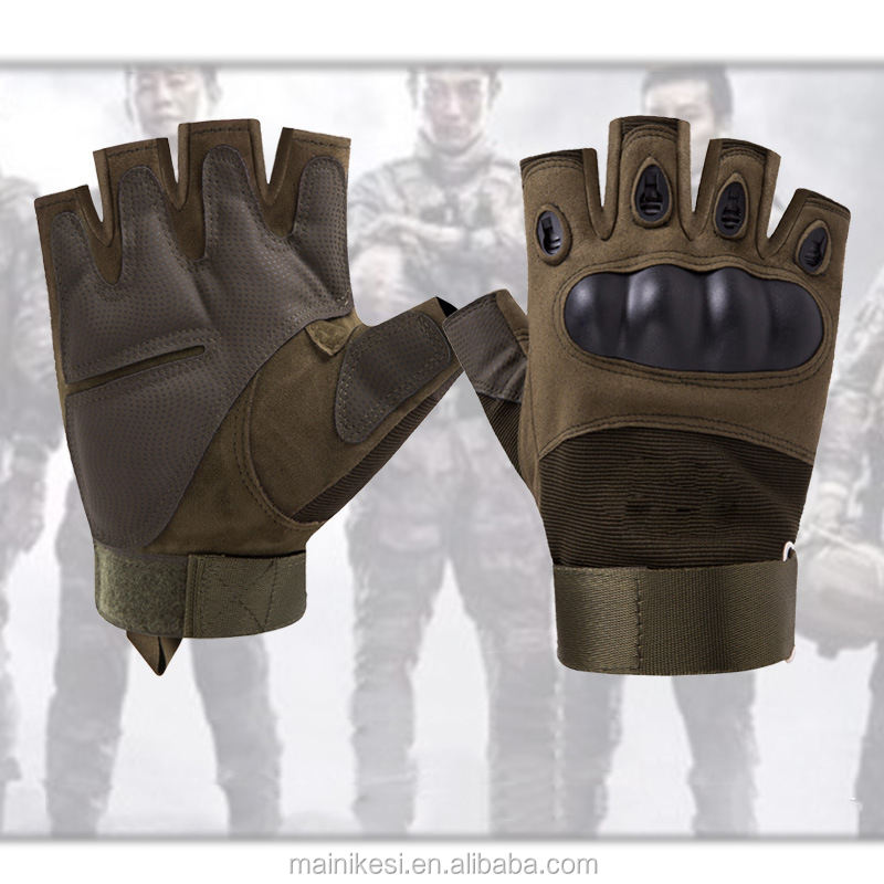 Cheap protection tactical knuckle training half finger army military gloves
