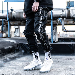 AND high quality women polyester hip hop joggers reflective