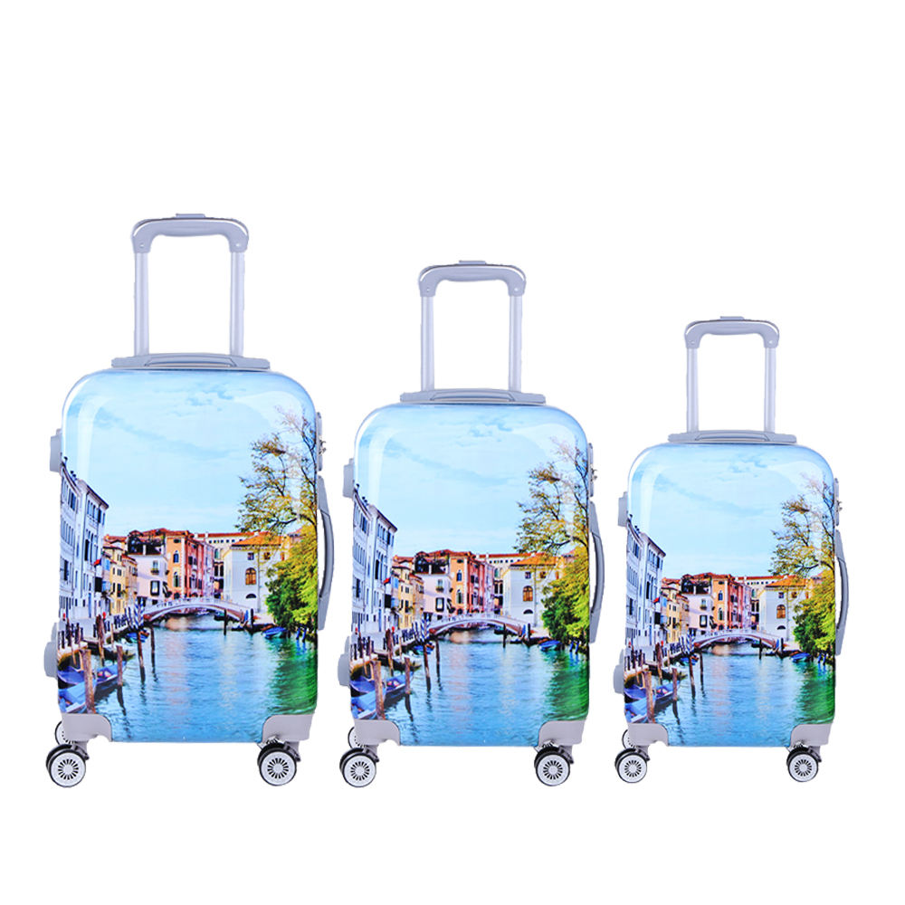 Elegant 3 piece travel luggage sets PC unique carry on luggage for sale