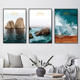New Eco-Friendly material PET printed soundproof wall art decorative oil sea painting for living room wall by numbers