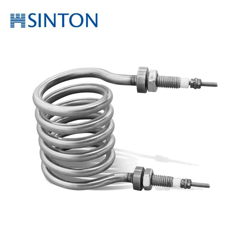 Immersion Electric Coil Heater Element Silinder Pelat Pemanas
