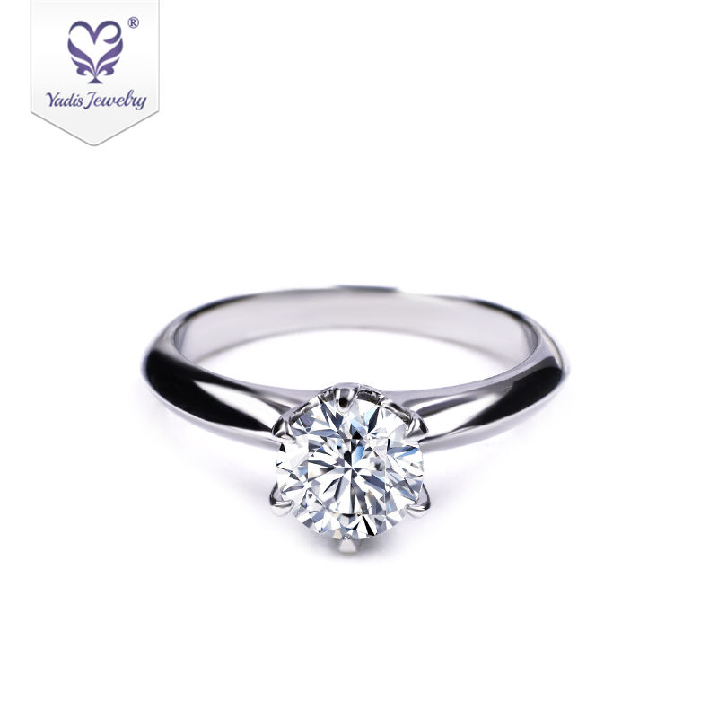 Wholesale solitaire big moissanite diamond engagement 925 sterling silver ring