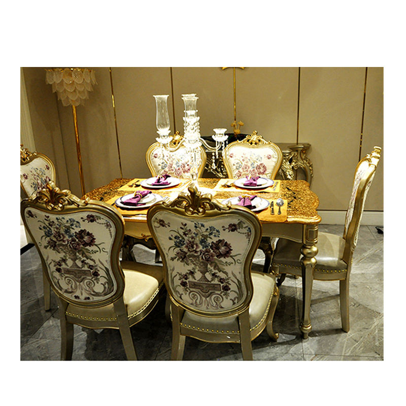 Tables And Chairs Set Modern 6 Dinning Room Furniture Wooden Gold Italian Luxury Dining Table Sets