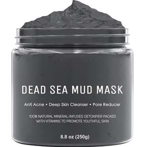 All Natural Dead Sea Mud Mask for Face and Body Pore Reducer for Acne Blackheads and Oily Skin Cleaning Clay Facial Mask