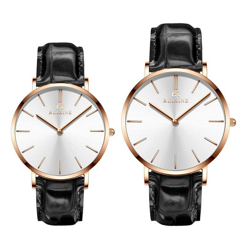 2019 new products fashion couple watch minimalism stainless steel wristwatches luxury men and women custom logo ladies watches