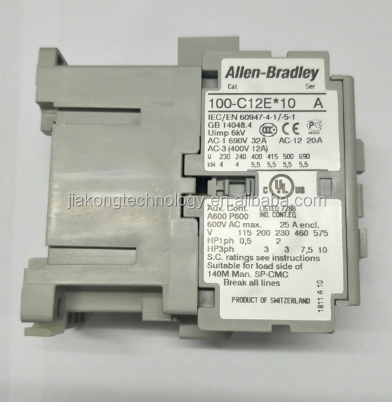 Fast delivery Allen Bradley 3 Pole Contactor - 12 A, 24 V dc Coil, 100 Series, 100-C12EJ10