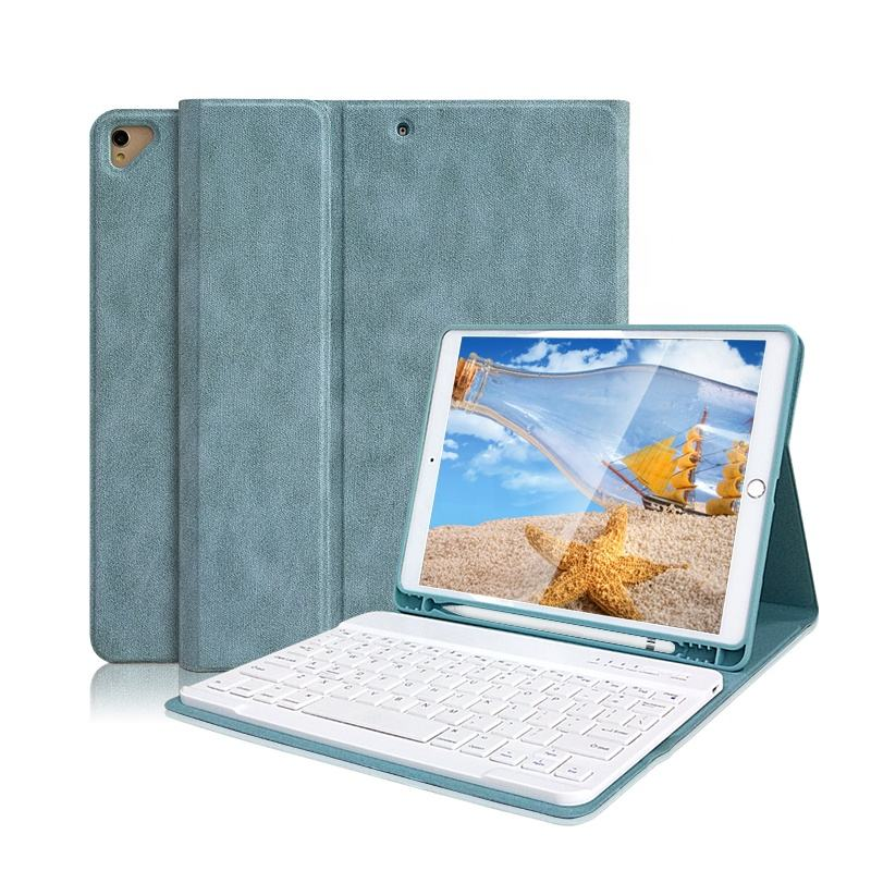 For iPad <span class=keywords><strong>fall</strong></span> Magnetic Wireless Keyboard Leather Tablet Case mit tastatur mit bleistift halter For Apple iPad 10.2 Inch