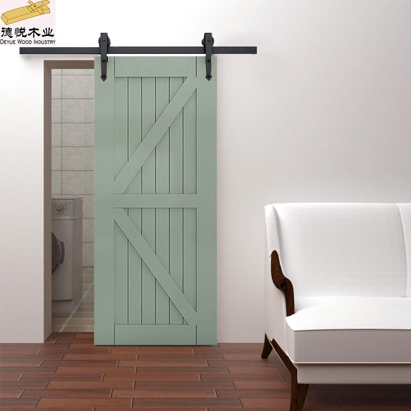 latest design solid wood barn door custom track sliding doors kitchen bathroom door