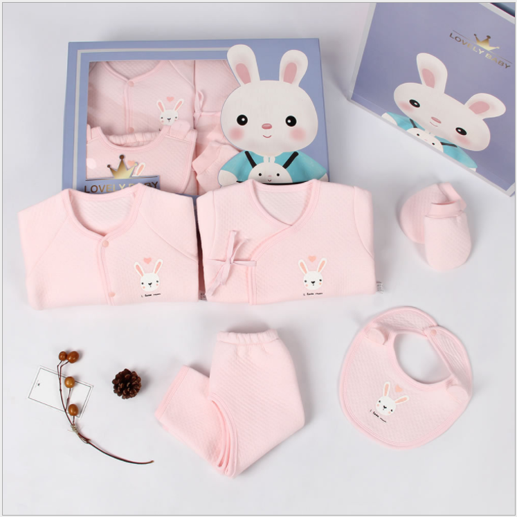 Newborn gift box newborn baby clothes summer set supplies male spring and autumn newborn full moon baby gift set