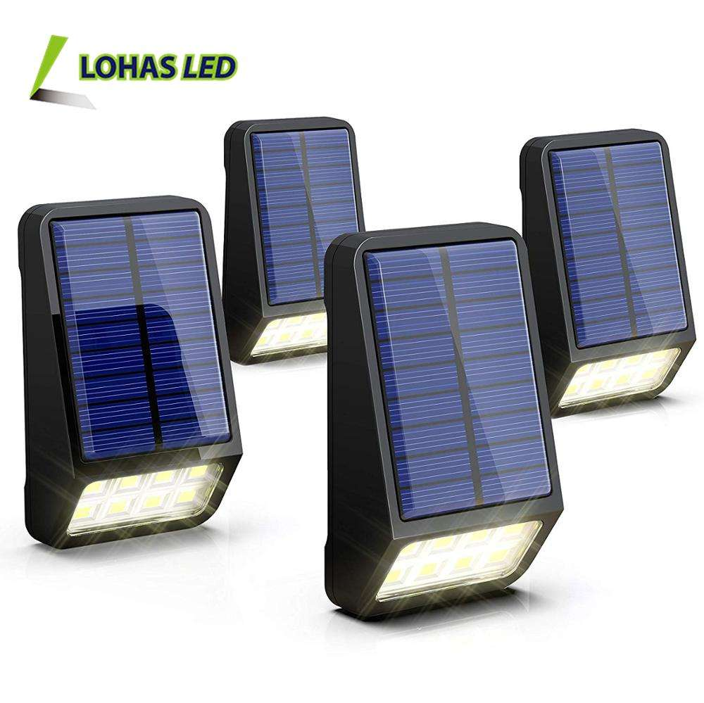 IP44 Waterproof Outdoor Wall Lights Solar Powered Light Sensor Auto on/off Led Solar Light for Pathway Hallway Fence