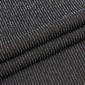 Various kinds of colors knitted stripe polyester jacquard metallic lurex fabric