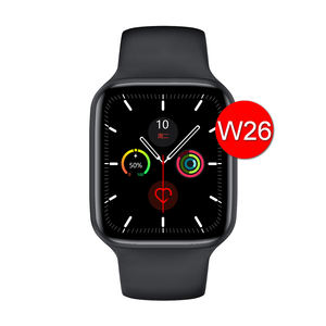 wholesale w26 smart watch mobile watch leather fully waterproof smartwatch serie 6 compatible with iPhone apple watch
