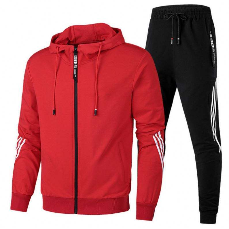 2020 apparel stock high quality tracksuit mens Sports Cotton Sublimation Tracksuit stylish men set