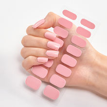 Gel Nail Sticker Stick Up Gel Color Strip High Glossy  waterproof long lasting Real Gel Strips Nail Wrap
