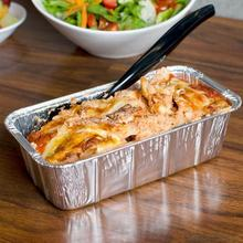 Custom airline aluminum foil food container meal packaging box food tray disposable