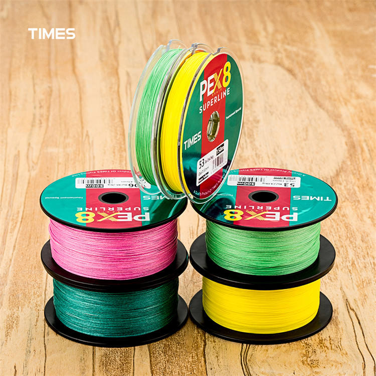 Factory new product colorful fishing line good quality 100m pe braid fishing line 8 strands