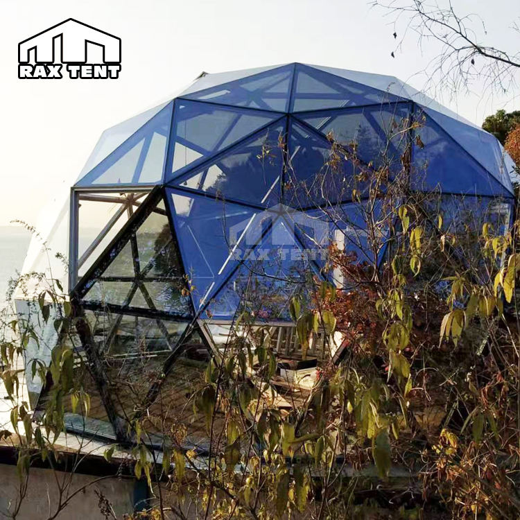 Best Sell 6M/7M Glass Dome House for Glamping and Resort Geodesic Dome Tent Near the Lake in the Mountain