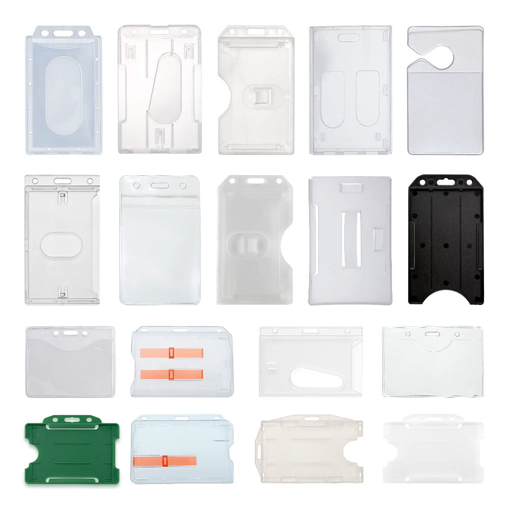 ID Card Holder [ Card ] Id Card Holder Pvc Custom Clear Plastic Id Name PVC Card Holder With Lanyard