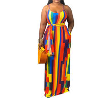 Wholesale african women summer casual loose maxi sundress
